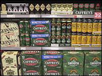 Crates of beer