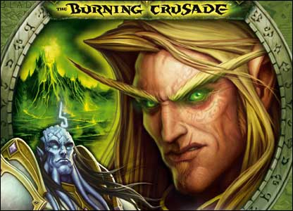 Close-up of Burning Crusade packaging, Blizzard