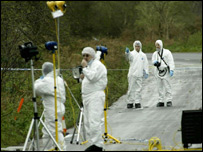 Forensic scientists at Levington