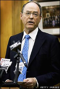 Don Brash announces his resignation on 23 November 2006