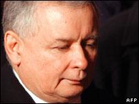 Polish PM Jaroslaw Kaczynski