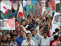 Supporters of the Awami League and its allies