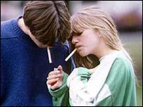 Children smoking