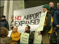 Airport protesters