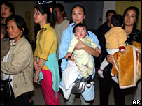 Chinese evacuees