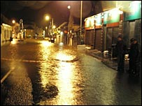 Floodwater in Milnathort (Picture by David Don)
