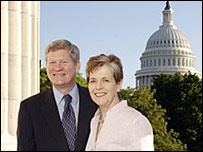 Senator Tim Johnson of South Dakota with his wife Barbara (Photo courtesy of Senator Johnson's office)