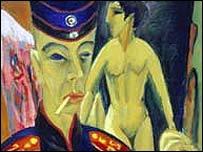 Autorretrato como soldado, 1915 (Ernst Ludwig Kirchner)