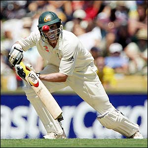 Mike Hussey in action with the bat