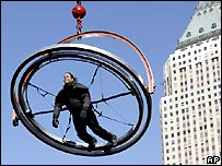David Blaine in gyroscope