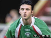 Danny Murphy in action with Cork City
