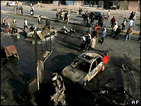 Site of one bombing in Sadr City, Baghdad