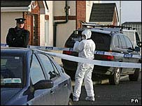Murder scene at Finglas double killing