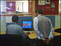 Workers at Wipro's call centre