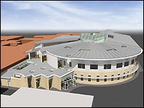 An artist's impression of the new cancer centre