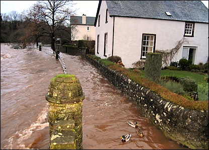 Flooding from the River Allan in Dunblane