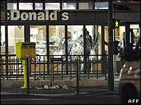 The McDonald's restaurant where the shooting took place
