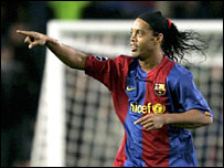 Ronaldinho inspired Barca to a 4-0 win