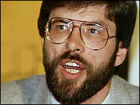 Gerry Adams pictured in the 1980s