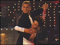 Darren Gough in last year's competition