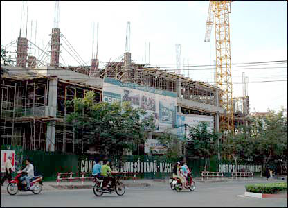 Construction project in central Hanoi