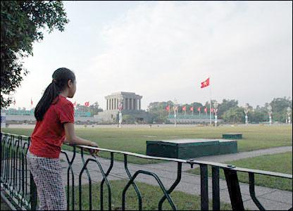 Ho Chi Minh's mausoleum in Hanoi