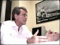 Teodoro Petkoff, de la campa�a opositora en Venezuela.