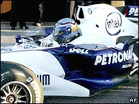 Alex Zanardi in a BMW Sauber at Valencia