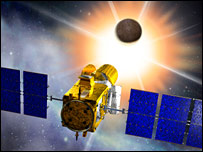 Artist's impression of Corot in space (Cnes/ David Ducros)