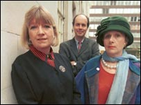 Toynbee with fellow journalists Mary Kenny and the late Nick Clarke