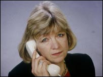 Polly Toynbee on the telephone