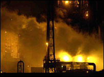 Corus steelworks explosion