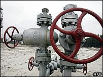 Gas derrick at gas field