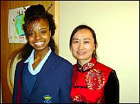 Merissa with teacher Shan Li