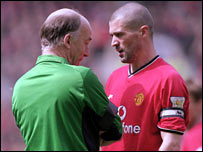 David Elleray and Roy Keane