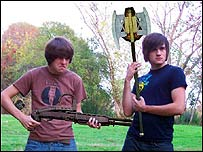 Ian Hecox (left) and Anthony Padilla of Smosh