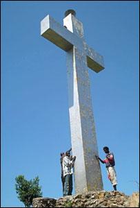 The concrete cross in eastern Uganda