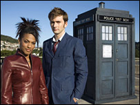 Freema Agyeman and David Tennant star in Doctor Who 