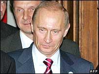 Vladimir Putin in Helsinki.