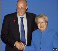 Treasury Secretary Henry Paulson and Vice Premier Wu Yi