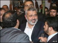 Mr Haniya back in Gaza City