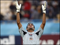 Mohammed Khadum, Iraq's goalkeeper
