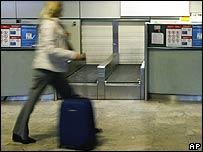 Traveller at airport