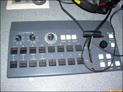 Buttons on a console