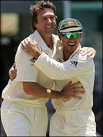 Glenn McGrath and Justin Langer