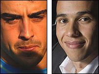 Fernando Alonso and Lewis Hamilton, McLaren team-mates in 2007