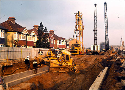 Heathrow extension near Hounslow in 1973