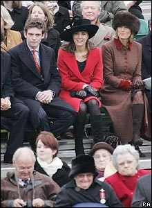 Kate Middleton (red coat)