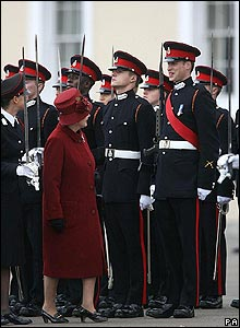 The Queen inspects the cadets
