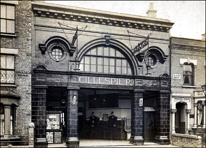 Gillespie Road Tube station in 1907